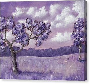 Violet Mood Canvas Print by Anastasiya Malakhova