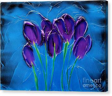 Violet Posy Canvas Print by Kenneth Clarke