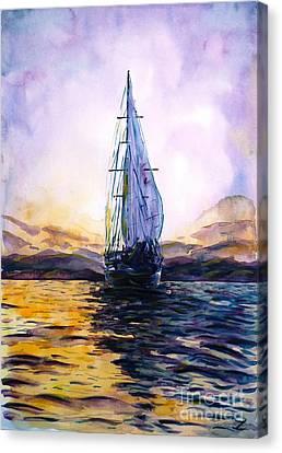 Violet Sunset Canvas Print by Zaira Dzhaubaeva