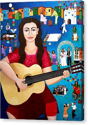 Violeta Parra And The Song Black Wedding II Canvas Print