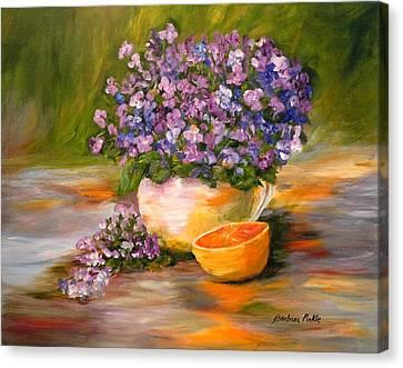 Violets Are Blue Canvas Print by Barbara Pirkle