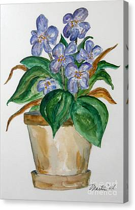 African Violets Canvas Print - Violets by Larry Martin
