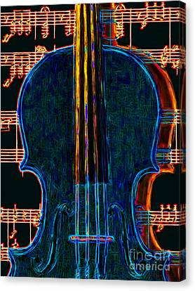 Violin - 20130128 Canvas Print by Wingsdomain Art and Photography