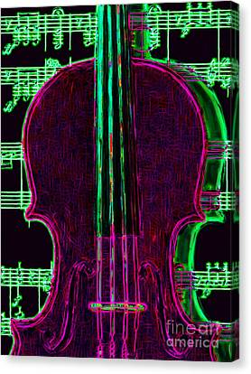 Violin - 20130128v2 Canvas Print by Wingsdomain Art and Photography
