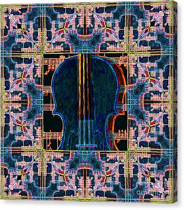 Violin Abstract Window - 20130128v1 Canvas Print by Wingsdomain Art and Photography