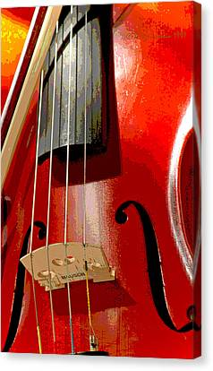 Violin And Bow Digital Painting Canvas Print