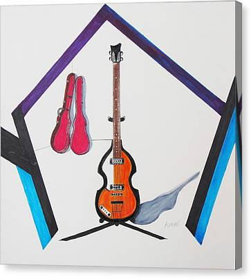 Violin Bass Canvas Print