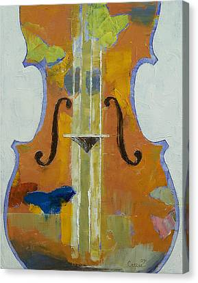 Musique Canvas Print - Violin Butterflies by Michael Creese