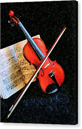 Violin Impression Redux Canvas Print by Kristin Elmquist