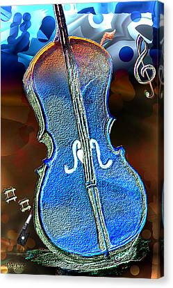 Canvas Print featuring the painting Violin Solo by Paula Ayers
