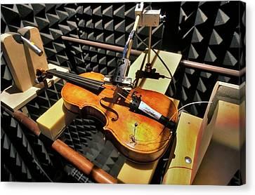 Violin Tests In Anechoic Chamber Canvas Print by Patrick Landmann