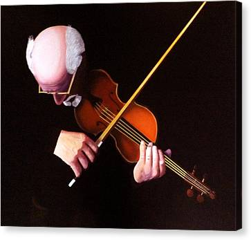 Violin Virtuoso-grandfather Inspired Canvas Print