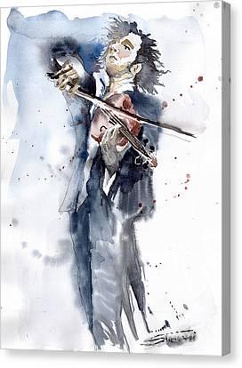 Violine Player 1 Canvas Print by Yuriy  Shevchuk