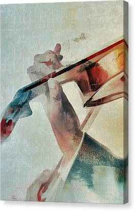 Violin Canvas Print - Violinist by David Ridley