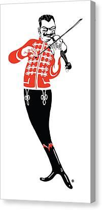 Violinist Canvas Print by Gary Grayson