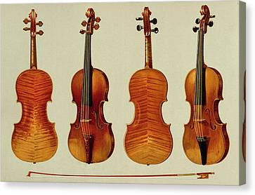 Orchestra Canvas Print - Violins by Alfred James Hipkins
