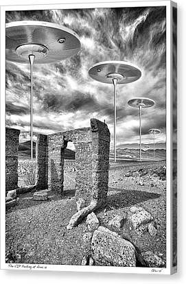 Vip Parking At Area 51 Canvas Print