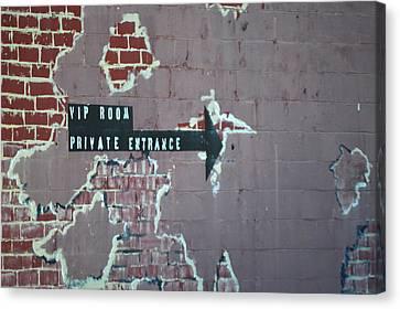 Vip Private Entrance - Sign Canvas Print