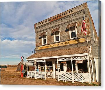 Canvas Print featuring the photograph Virgelle Mercantile by Sue Smith