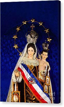 Virgen Del Carmen Close Up Chile Canvas Print
