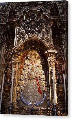Jesus Christ Icon Canvas Print - Virgen Del Rocio Reredos In Seville Cathedral by Artur Bogacki