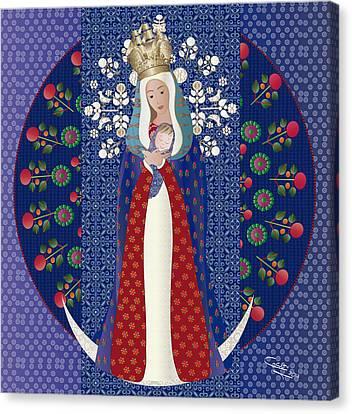 Virgen Posada Del Lago Canvas Print