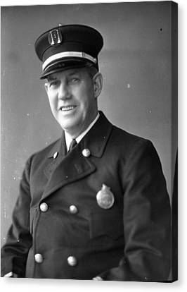 Virgil Bowen Century Of Progress Fireman Worlds Fair Chicago Canvas Print by Retro Images Archive