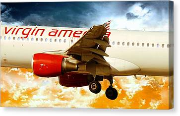 Virgin America A320 Canvas Print
