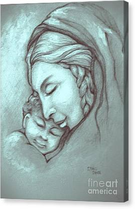 Virgin And Child Canvas Print by Craig Green