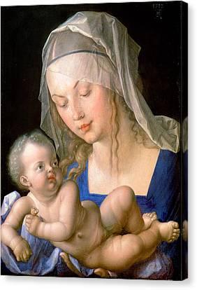Virgin And Child Holding A Half-eaten Pear, 1512 Canvas Print by Albrecht Durer or Duerer