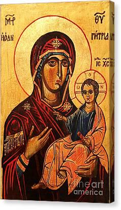 Virgin Hodegetria Canvas Print by Ryszard Sleczka