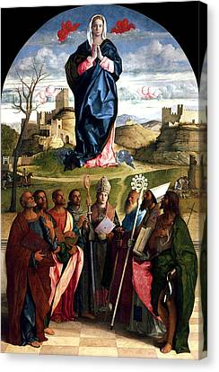 Virgin In Glory With Saints 1515 Giovanni Bellini Canvas Print