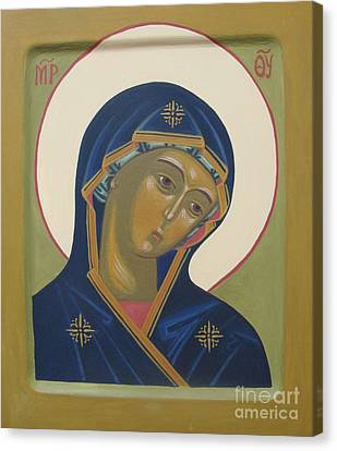 Virgin Mary Icon Canvas Print by Seija Talolahti