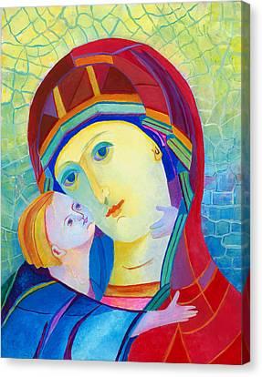 Vladimir Virgin Mary And Child, Mother Mary Madonna With Child. Polish Catholic Art  Canvas Print
