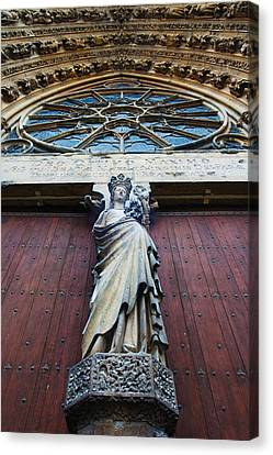 Virgin Mary Statue With Jesus Christ Canvas Print by Panoramic Images
