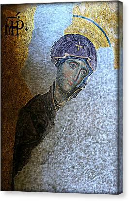 Icon Byzantine Canvas Print - Virgin Mary by Stephen Stookey
