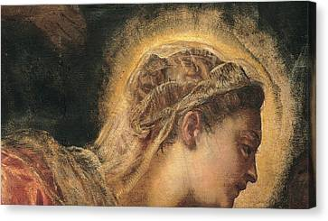 Religious Art Canvas Print - Virgin Mary  by Tintoretto