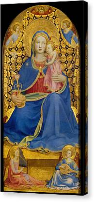 Virgin Of Humility Canvas Print by Fra Angelico