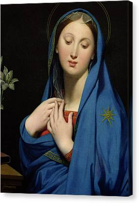 Love Laces Canvas Print - Virgin Of The Adoption by Jean Auguste Dominique Ingres