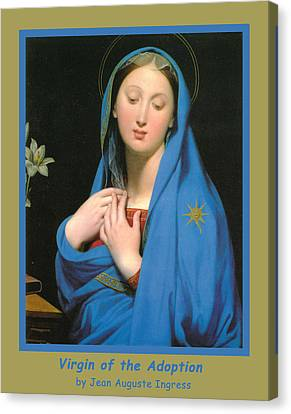 Virgin Of The Adoption Poster Canvas Print by Jean Auguste Dominique Ingress