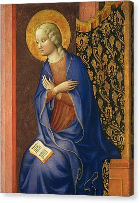 Virgin Of The Annunciation Canvas Print by Masolino da Panicale