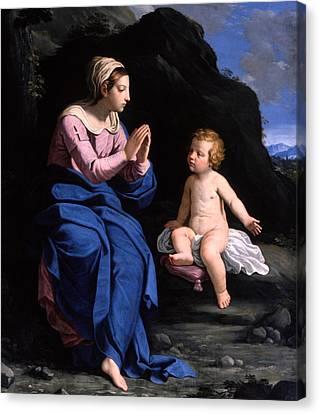 Virgin Of The Ghiara Canvas Print by Ludovico Lana