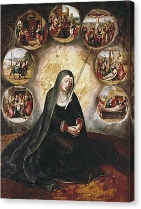 Virgin Of The Seven Sorrowsvirgin Canvas Print by Everett