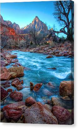 Virgin River Before The Watchman Canvas Print by Laura Palmer
