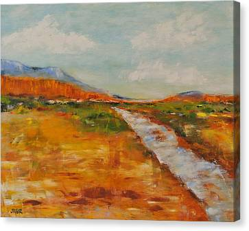 Southern Utah Canvas Print - Virgin River by Kathy Stiber
