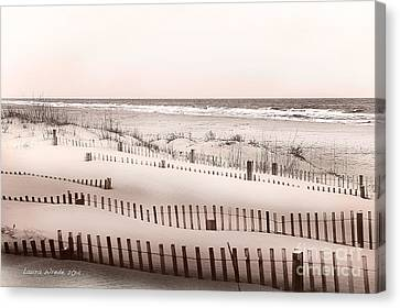 Virgina Beach Vacation Memories Canvas Print by Artist and Photographer Laura Wrede