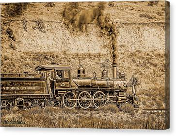Virginia And Truckee Rail Road Gold Rush Canvas Print by LeeAnn McLaneGoetz McLaneGoetzStudioLLCcom