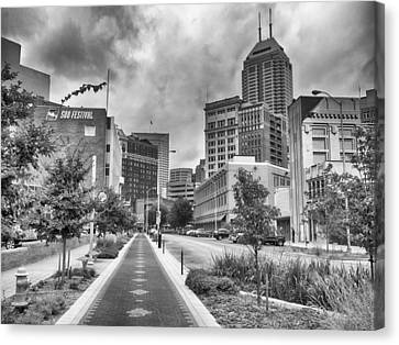 Canvas Print featuring the photograph Virginia Ave. by Howard Salmon