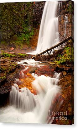Canvas Print featuring the photograph Virginia Cascades by Aaron Whittemore