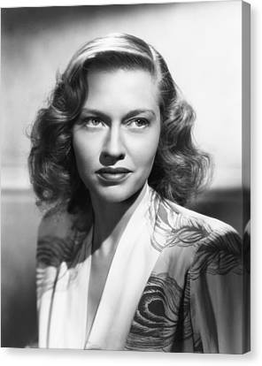1940s Hairstyles Canvas Print - Virginia Christine, Ca. Mid-1940s by Everett